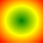 radialer Farbverlauf mit 3 Farben