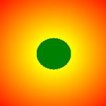 radialer Farbverlauf mit %-Werten
