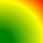 radialer Farbverlauf aus der Ecke