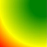 radialer Farbverlauf mit festem Wert