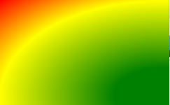 ellipsenförmiger Farbverlauf